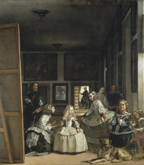 Velázquez, Diego Rodríguez.  Las Meninas. Ca. 1656. Oil, (318×276 cm)