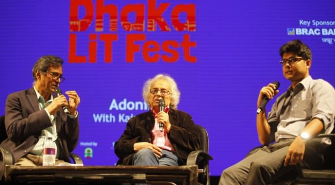 Adonis in conversation with Kaiser Haq at Dhaka Lit Fest 2017- Interview
